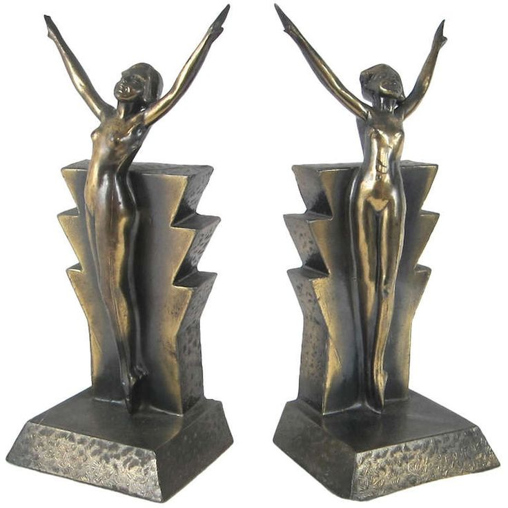 Strikingly Idea Bird Bookends. Art Deco Flapper Bookends 445 best images on Pinterest  Book holders and