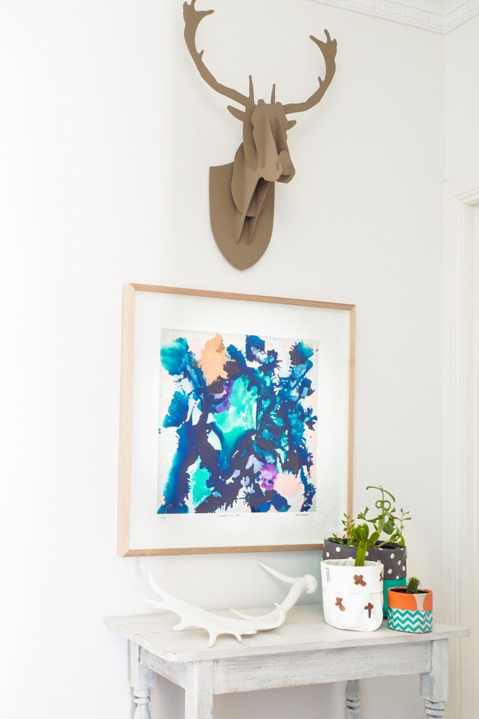 Melbourne artist Katie McKinnon is passionate about her craft and Scandanavian design. We had a blast shooting her in her own space. #scandanaviandesign #modernart #interiors   Photo - Changwei Dean. Production - Martine Harte on www.engagingwomen.com.au