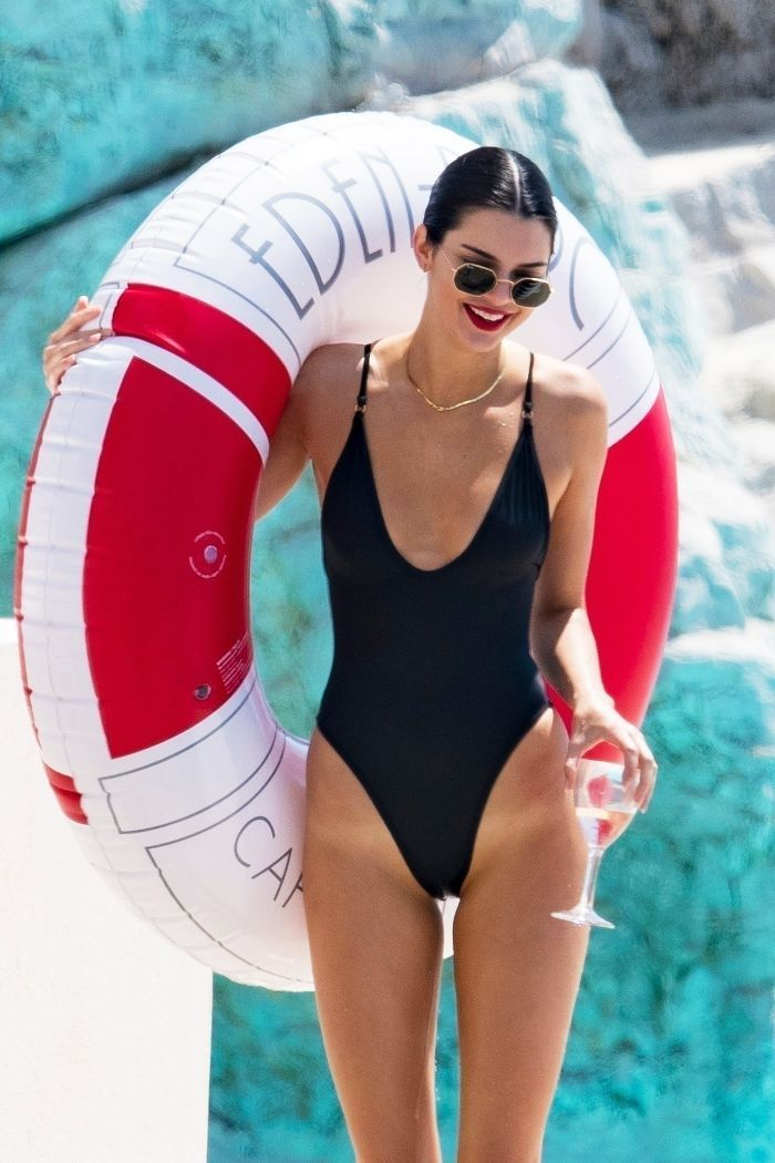 f5f809f74 Kendall Jenner s flattering under- 100 swimsuit is the chic style we all  need. Shop it here.