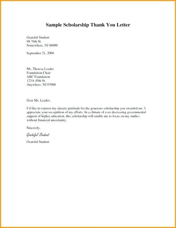 19 Scholarship Thank You Letter Template Cover Letter Templates