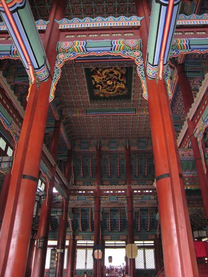 Royal palace Gyeongbokgung 경복궁 in Seoul, Korea