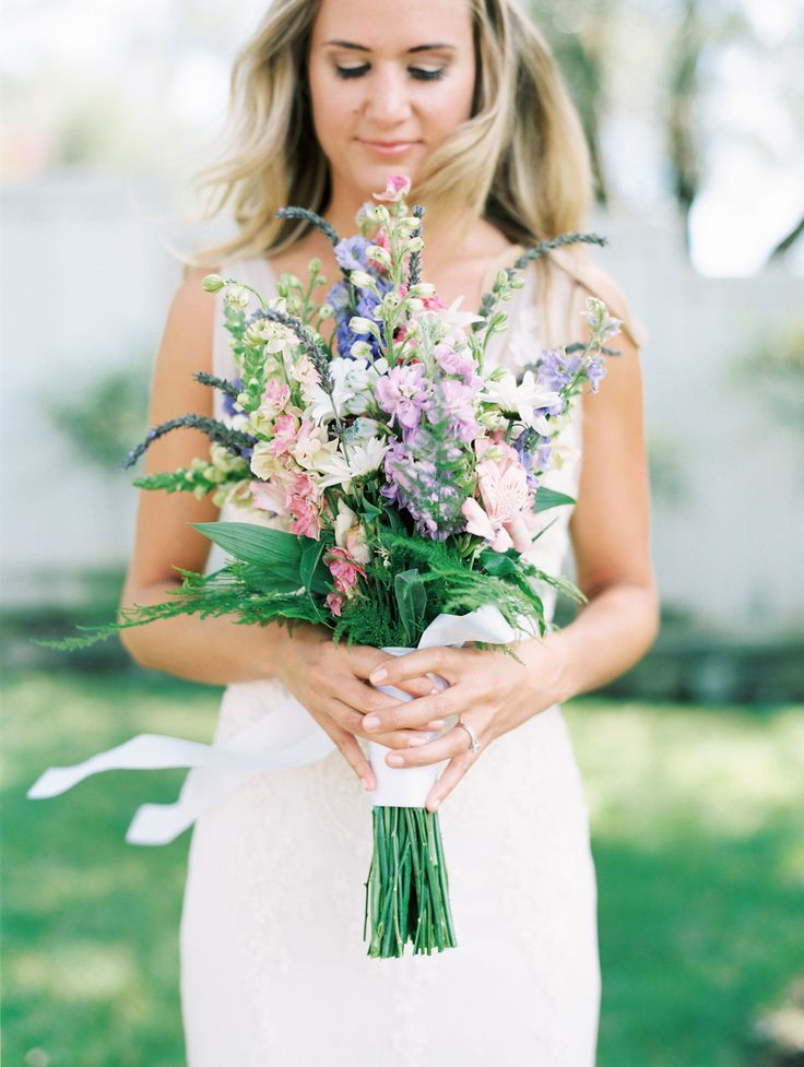 wildflower bouquet | Photography: Kristen Wood - kristenwood.com  Read More: http://www.stylemepretty.com/california-weddings/2014/04/03/soft-romantic-sonoma-winery-wedding/