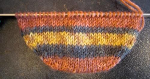 Вязание носка от мыска