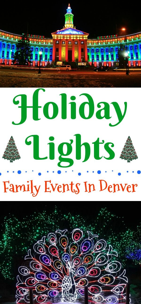 Holiday Lights - Family Events In Denver, Denver Zoo Lights, Christmas lights in Denver, Denver Christmas lights, Christmas events in Denver, Candlelight Walk in downtown Littleton, Light the lights Denver, 9NEWS Parade of Lights, Catch the Glow Parade Estes Park, Blossoms of Light at the Botanical Gardens.Chatfield Farms Botanic Gardens Santa's Village #DenverHoliday #Denver #Colorado #holidaylights #ChristmasLights