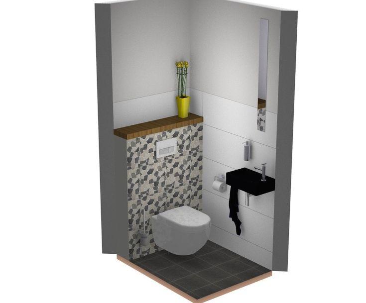 25 beste idee n over kiezel vloer op pinterest kiezel tegels neutrale badkamer en beige badkamer - Deco toilet zwart ...