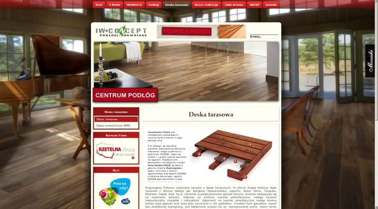 IW-Concept wooden floors look great on new website we've made :) http://www.podlogiszczecin.com.pl/podlogi/