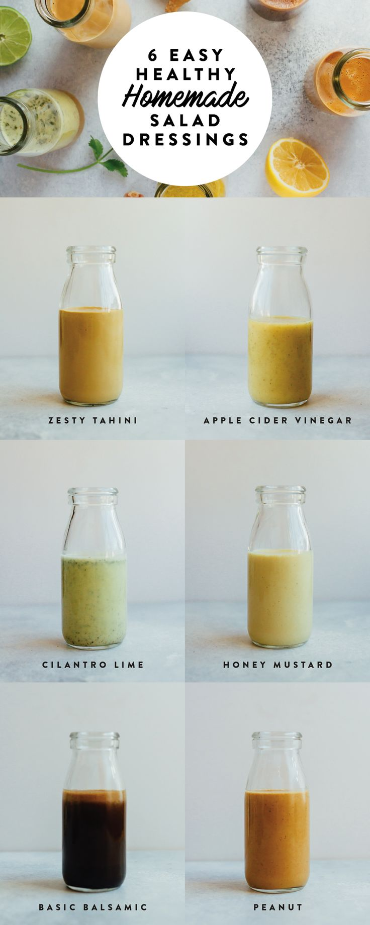 6 Healthy Homemade Salad Dressings - Eating Bird Food