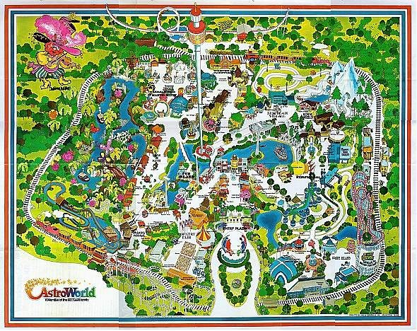 1979 Astroworld map Houston Pinterest Maps and Hotels