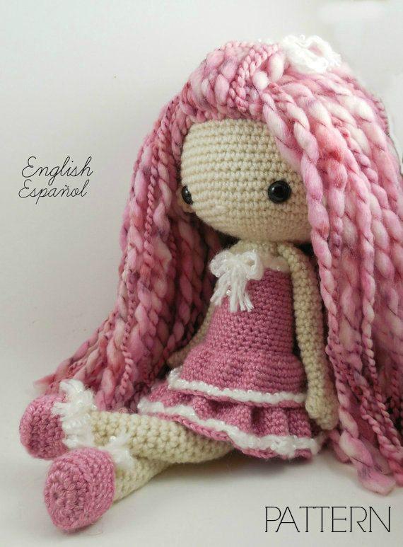 Etsy の Lupita  Amigurumi Doll Crochet Pattern PDF by CarmenRent