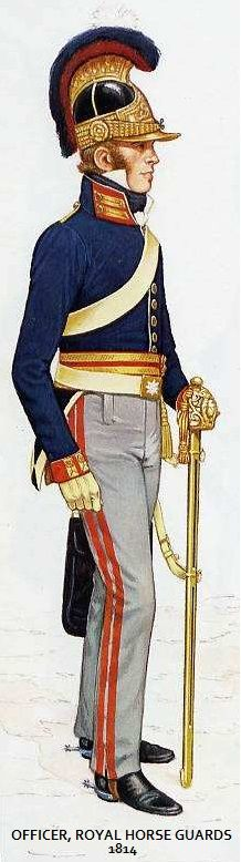 Bryan Fosten's rendition of an officer during the Waterloo campaign is about the most accurate.