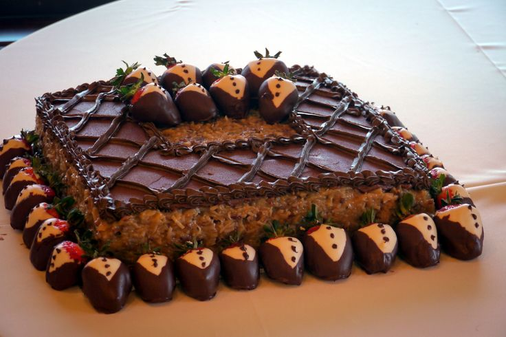 Simple and classy german chocolate grooms cake with yummy ...