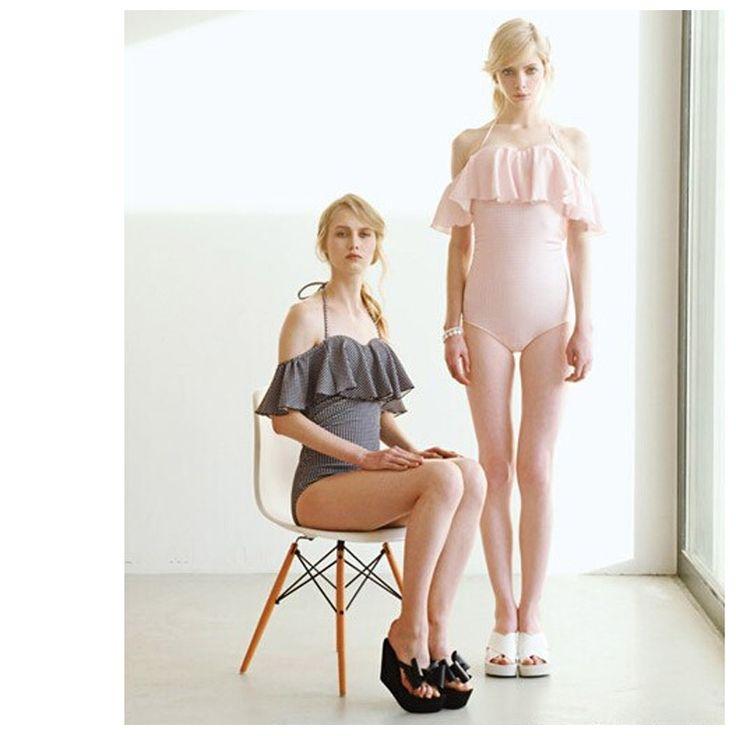 One Piece Swimsuit Swimming Suit For Women Plus Size Swimwear Large Beach Wear Ruffled Strapless Mayo Badpak Bademode Frauen