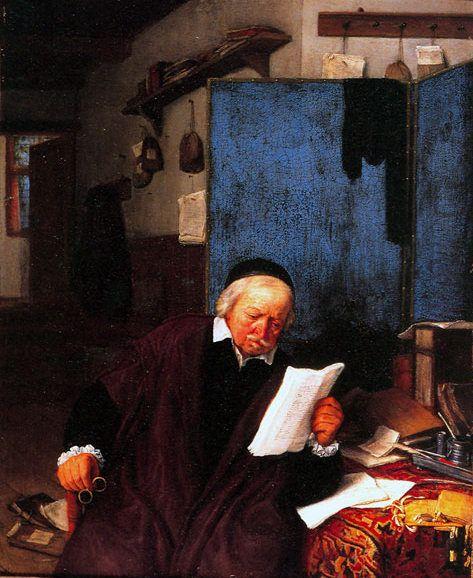 Adriaen van Ostade - Een advocaat in zijn kantoor
