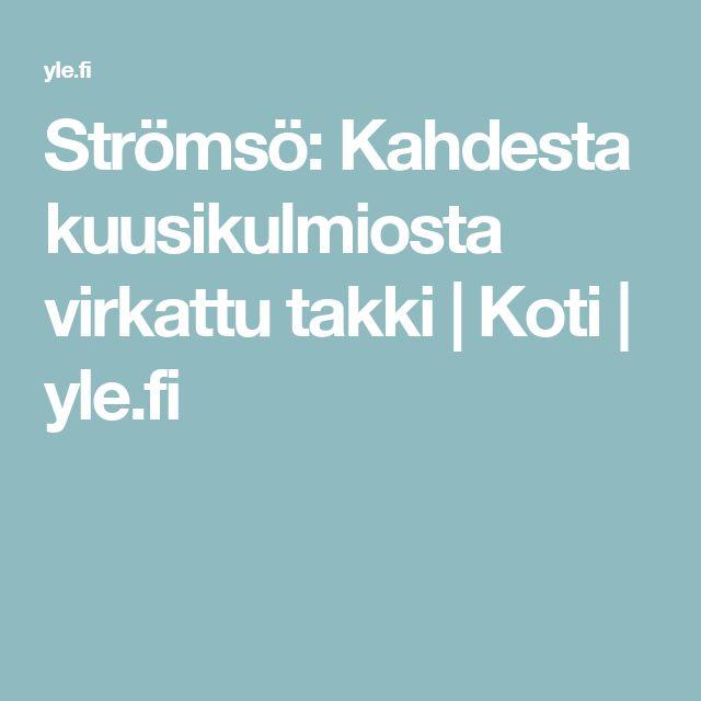 Strömsö: Kahdesta kuusikulmiosta virkattu takki | Koti | yle.fi