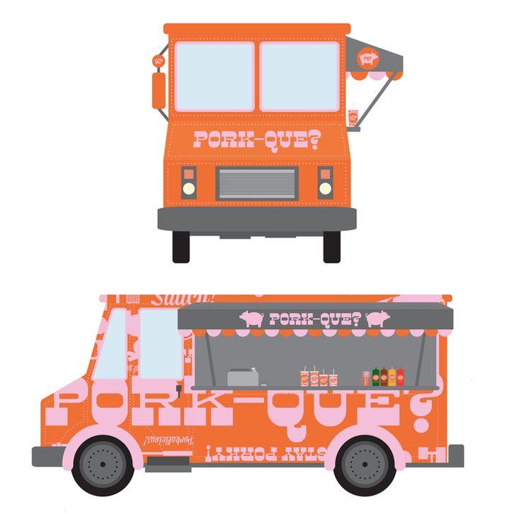 Food truck mockups mockup design template design food