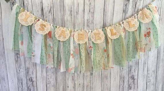 Pink and Mint Nursery Decor // Pink and Mint Nursery Banner //
