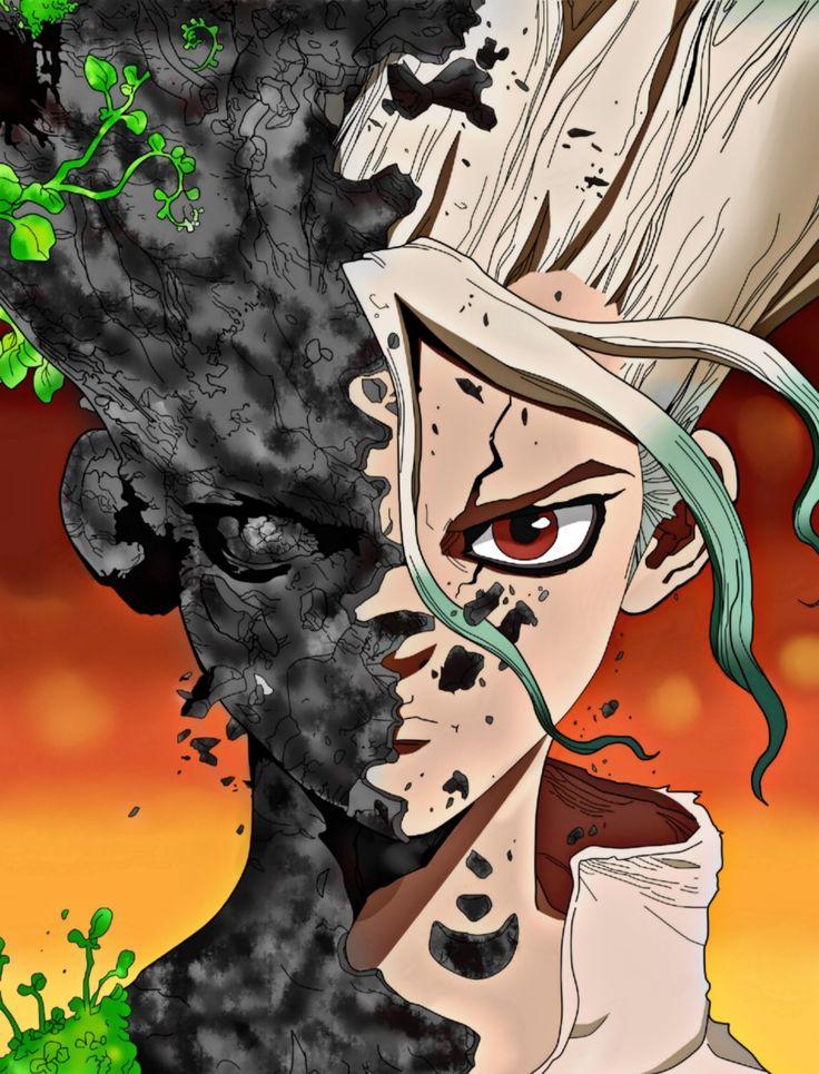 Ishigami Senku - Dr. Stone | Personagens de anime, Desenhos de anime