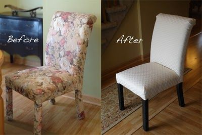 Reupholster Parsons Chair DIY Pinterest Chairs