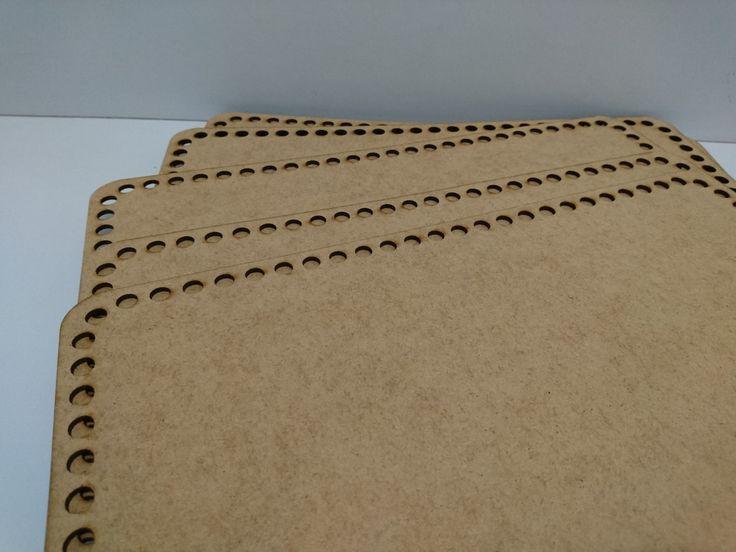 Base para Cesto, Maxi Crochê, Com Furos De 8mm - 23x35 Cm