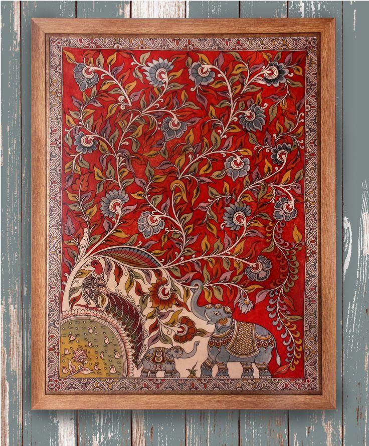 The Royal Salute - Original Kalamkari on Fabric