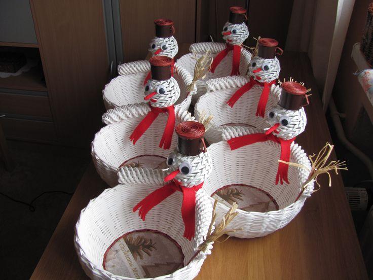 Košíček sněhulák