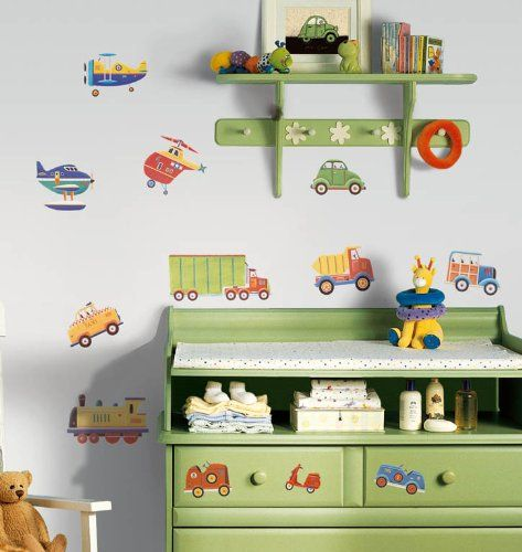 RoomMates Repositionable Childrens Wall Stickers Transpor...  Https://www.amazon