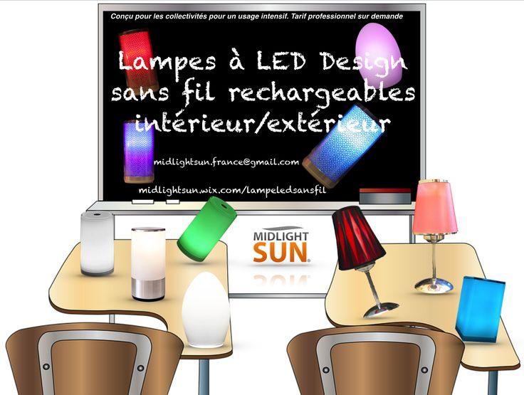 Lampes de table sans fil LED rechargeables pour les professionnels : hôtels, restaurants, SPA, discothèques...