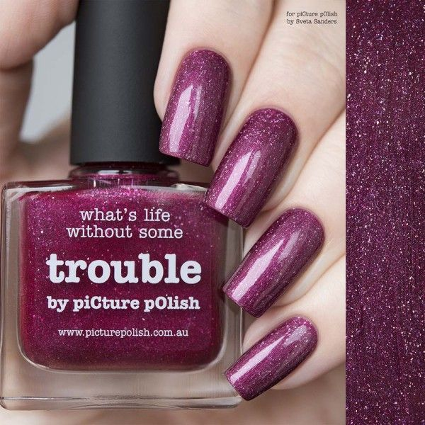 piCture pOlish : Picture Polish Trouble  Shop here- www.color4nails.com Worldwide shipping available