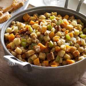 Sweet Potato Stuffing Recipe from Taste of Home -- shared by Kelly Pollock of London, Ontario