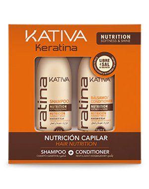 KERATINA Набор укрепляющий  шампунь + кондиционер  с кератином для всех типов  волос 2х100мл Kativa от Kativa за 690 руб!