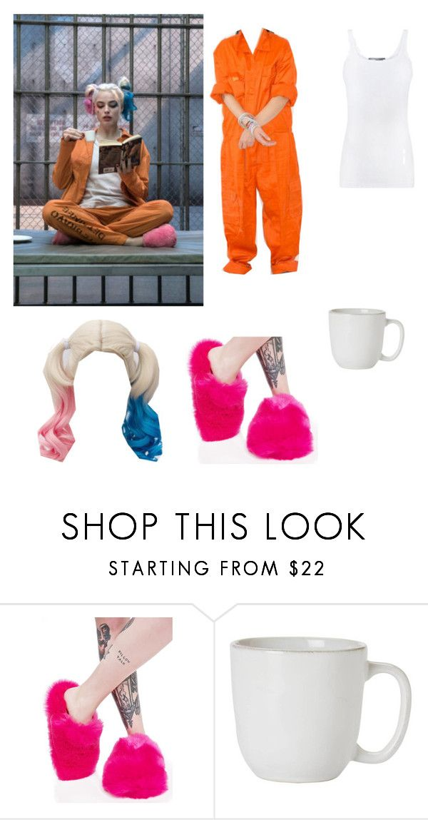 """""""Harley Quinn Prison Outfit"""" by shadowhunter2017 ❤ liked on Polyvore featuring Lust For Life, Juliska and Vince"""