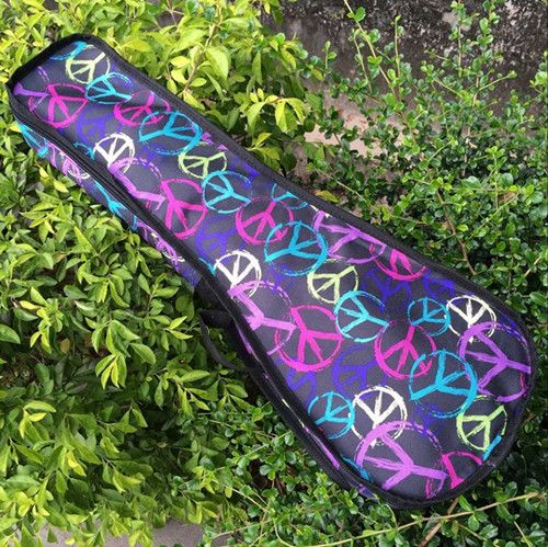 New quality 21 23 24 28 inch tenor lanikai soprano concert tenor ukulele bags soft gig case small guitar cover colorful backpack