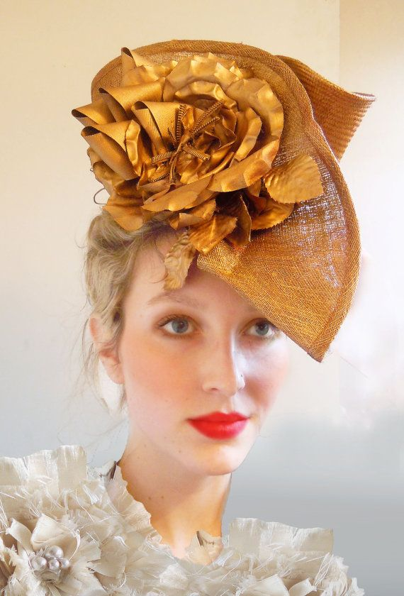 The Golden Crown- handmade by Natalilouise Millinery. $300.00, via Etsy.