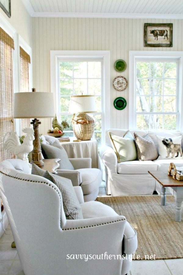 Savvy Southern Style : Fall Sun Room....French Country Fridays