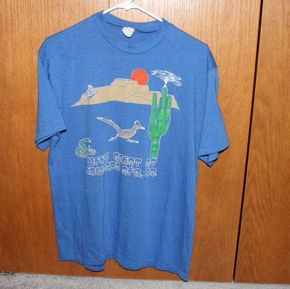 Vintage Edwards AFB Shirt Air Force Base Thin by That70sShoppe, $60.00