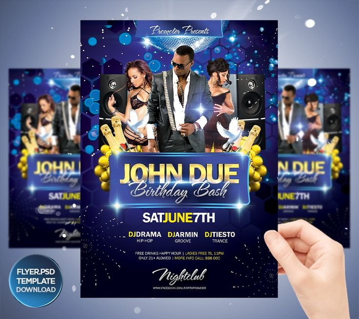 166 Best Party Flyer Template Downloads Images On Pinterest