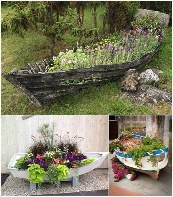 Boat Garden 15 Clever Ideas For Reuse Boats