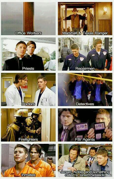 Supernatural Dean and Sam Winchester get ups
