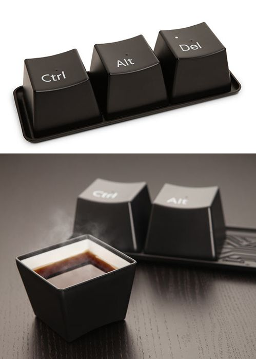 Ctrl-Alt-Delete Cup Set - would look so cute sitting on my desk at work!