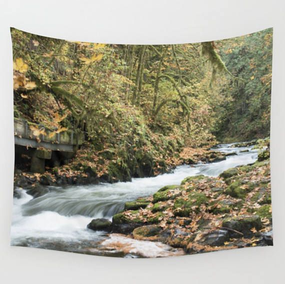 Cedar Creek ~ Nature Tapestry ~ Large Rustic Wall Art ~ River Wall Hanging ~ Landscape Wall Tapestry ~ Nature Decor ~ Rustic Tapestry ~ Autumn Leaves Forest by #NancyJsLifestyle #tapestry #nature #naturetapestry #wallart #natureart #naturephotography #fall #autumn #falllandscape #landscapetapestry #landscapephotography #river #creek #cedarcreek