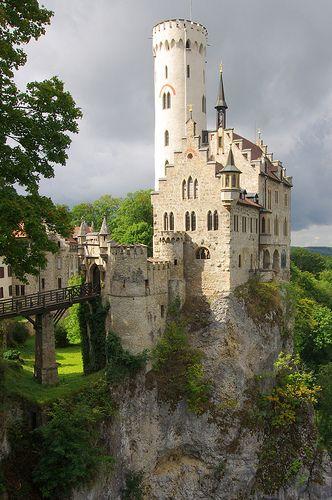 Das Mittelalterlich Schloss Lichtenstein in dem Schwarzwald, Baden-Wurttemberg, Deutschland