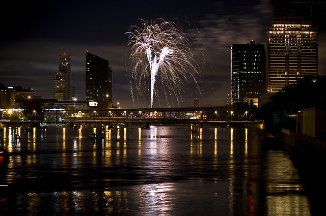 Fireworks over the Grand