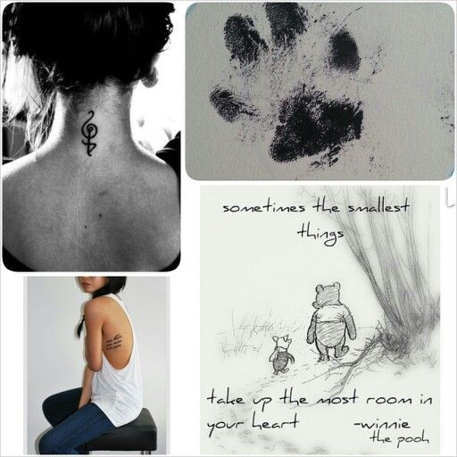 The tattoos im getting. The quote on my rib cage like the bottom left picture. My dogs footprint, and a symbol meaning dont worry, be happy... plus maybe an elephant tattoo