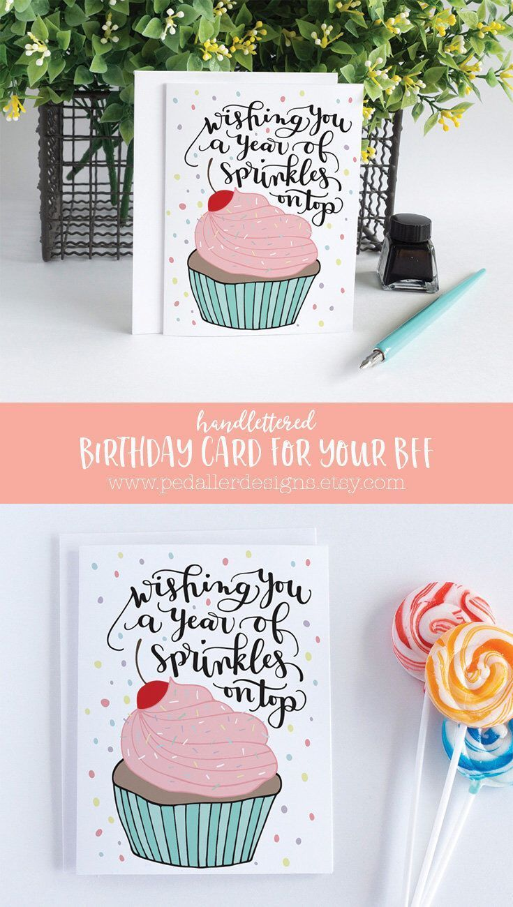Birthday Card For Her Best Friend Birthday Card Card For
