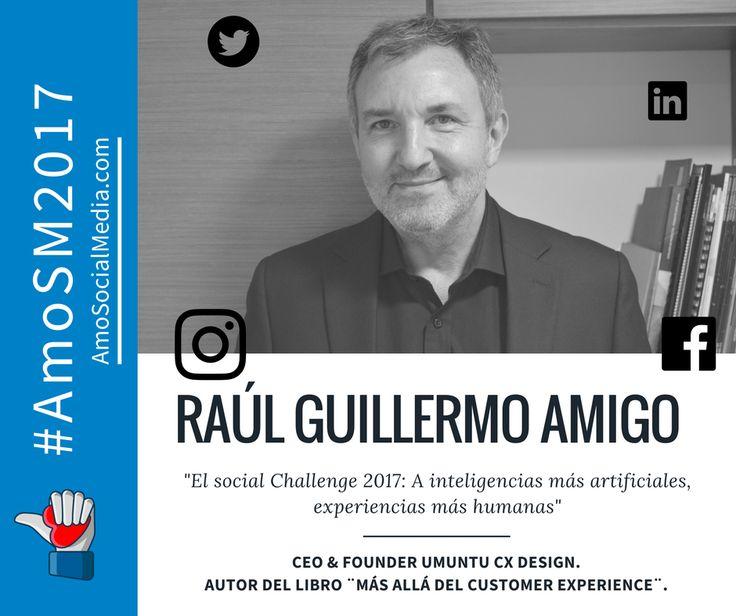 Raul Guillermo Amigo, es uno de los  6 conferencistas que nos acompañarán este 22 de febreo en #AMOSM2017 . ¡Inscríbete, es grartis!