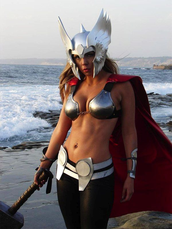 "Lady Thor 2- ""Well, that's not going to protect you in battle what-so-ever. Moron."""