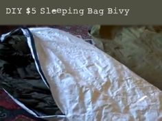 DIY $5 Sleeping Bag Bivy - The video also shows you how to make a very inexpensive and very lightweight sleeping bag bivy out of Dupont Tyvek. For those of you that don't know what a bivy is, it's a lightweight waterproof shell that is designed to slip over a sleeping bag