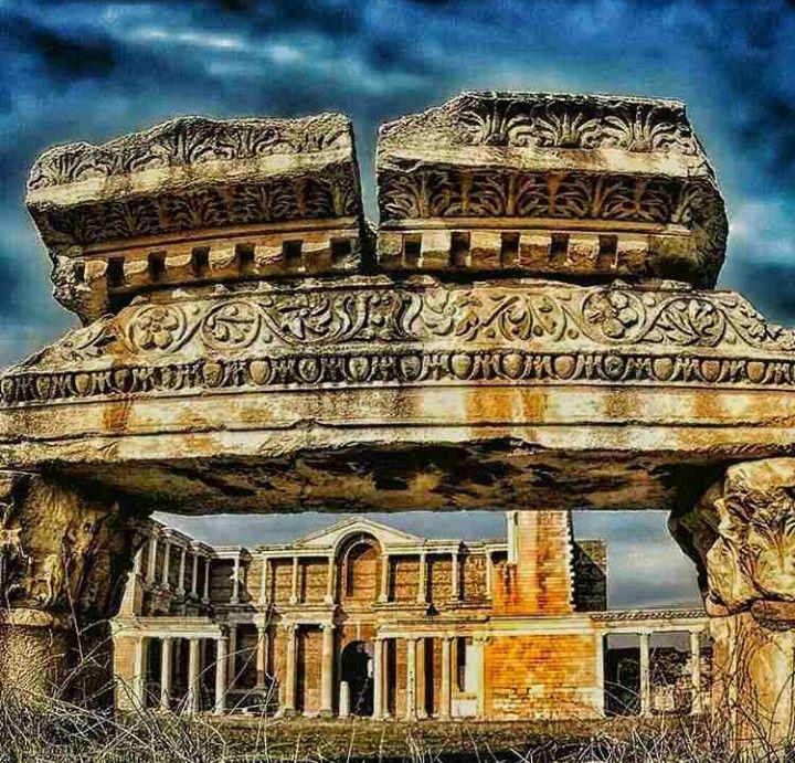 Sardes ancient city-Lydia-Year built BC 1300 year-Salihli-Manisa
