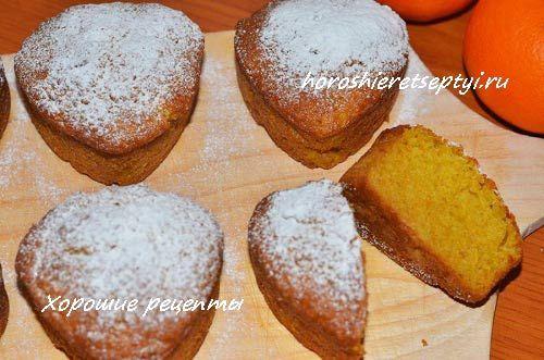 Рождественские кексы с мандаринами пошаговый рецепт