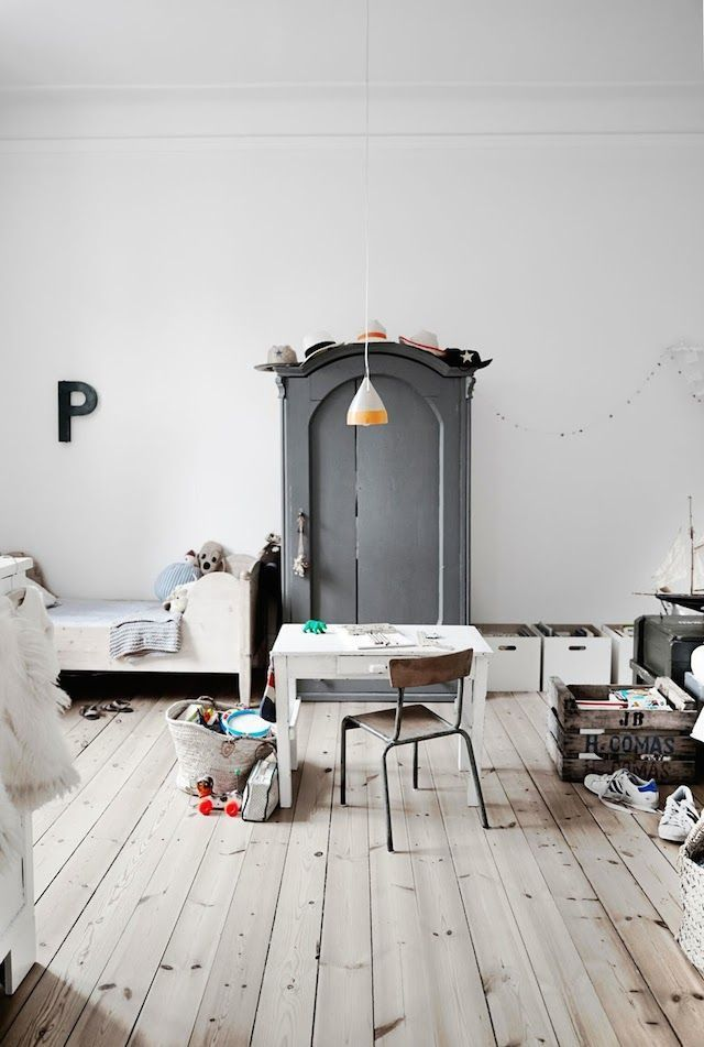 Vintage Kinderzimmer in einem dänischen Haus. Birgitta
